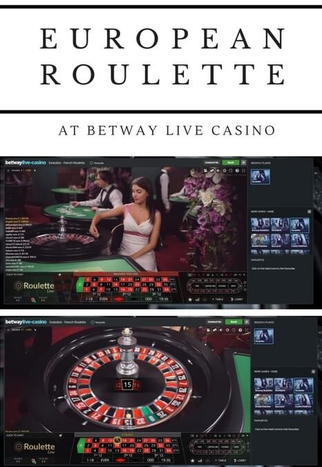 Live European Roulette at Betway casino