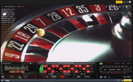 Live Immersive Roulette Game